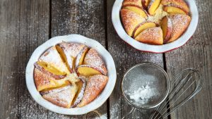 Peachy cottage cheese angel cake