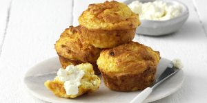 Pumpkin, Cottage Cheese and Parmesan Muffins