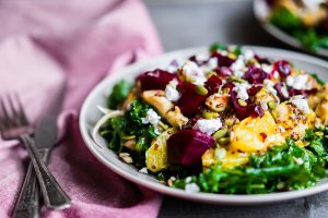 Chicken, Cottage Cheese, Beetroot and Kale Salad